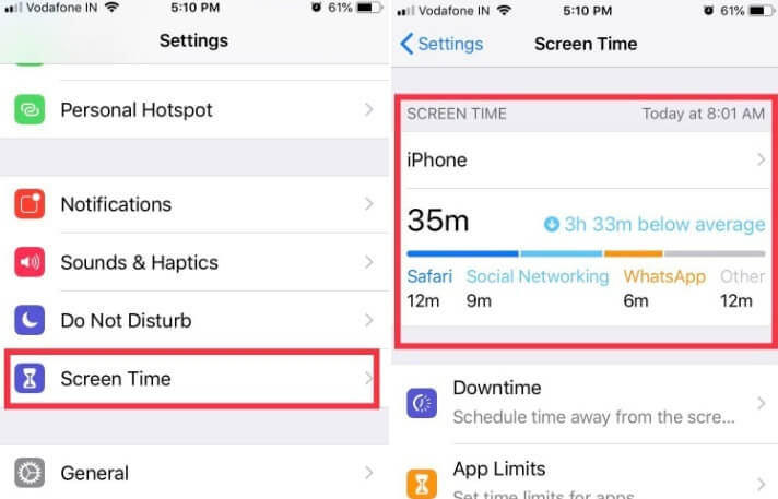 Turn on and use Screen Time in iOS 12 on iPhone ipad