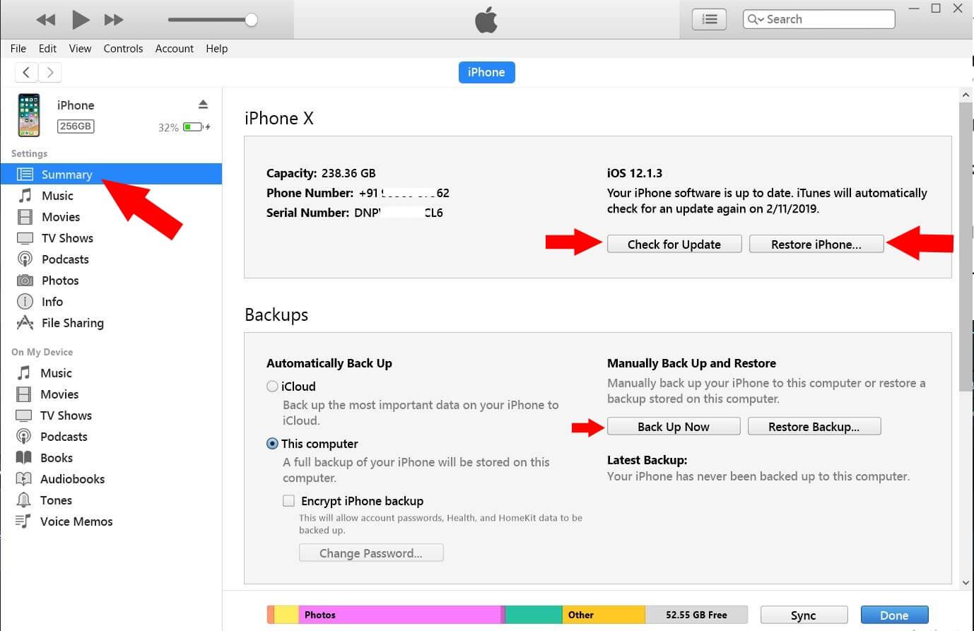 Update iOS on iPhone Using iTunes