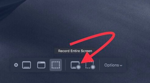 record entier screen on macos mojave