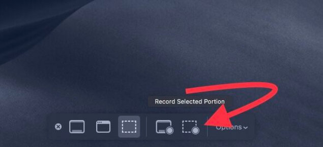 record selected portion screen on macos mojave