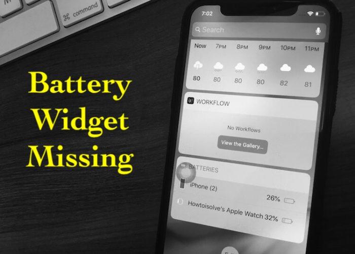 1 Battery Widget not showing on iPhone screen