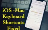 1 Keyboard Shortcuts not working on Mac and iOS