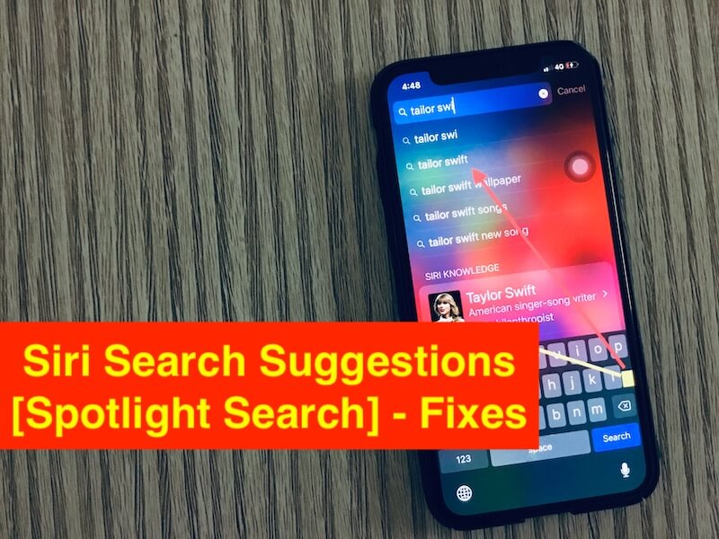 1 Siri Search Suggestions not working in iOS 12 on iPhone and iPad