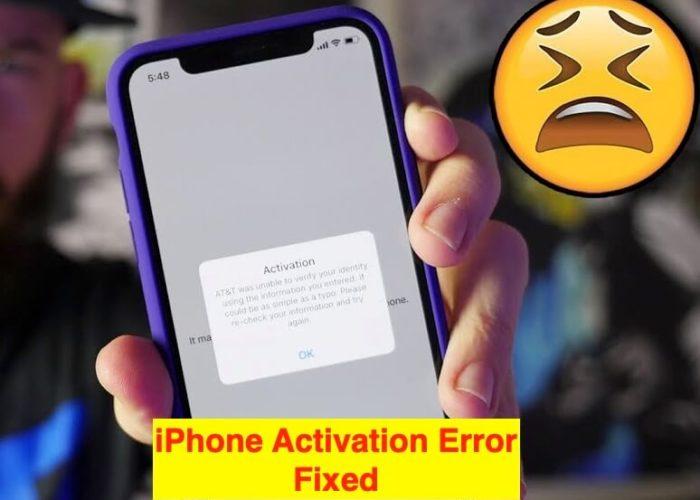 1 iPhone Activation Error fixed