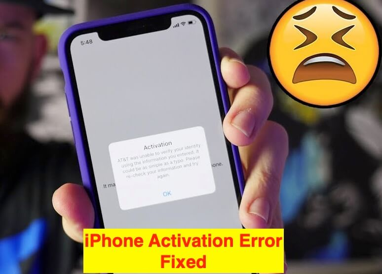 1 iPhone Activation Error fixed