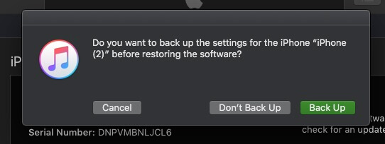 4 Backup if you don't take backup before restore