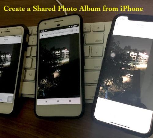 4 Shared photo album on iPhone, iPad and mac