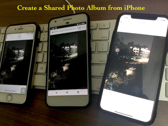4 Shared photo album on iPhone, iPad and mac