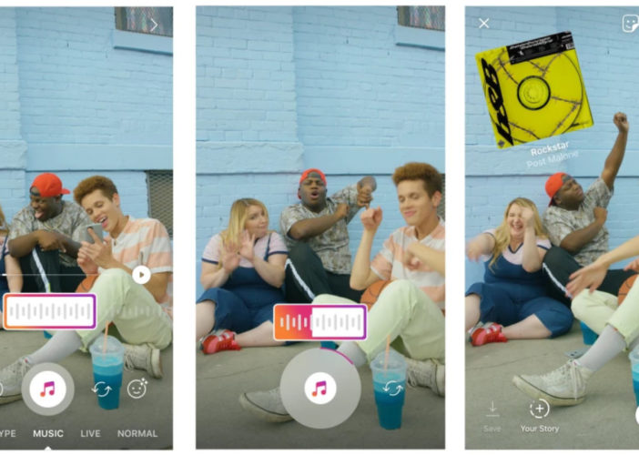 Add Music to Instagram Stories before recording or capturing a video into Instagram story the song plays in the background iPhone