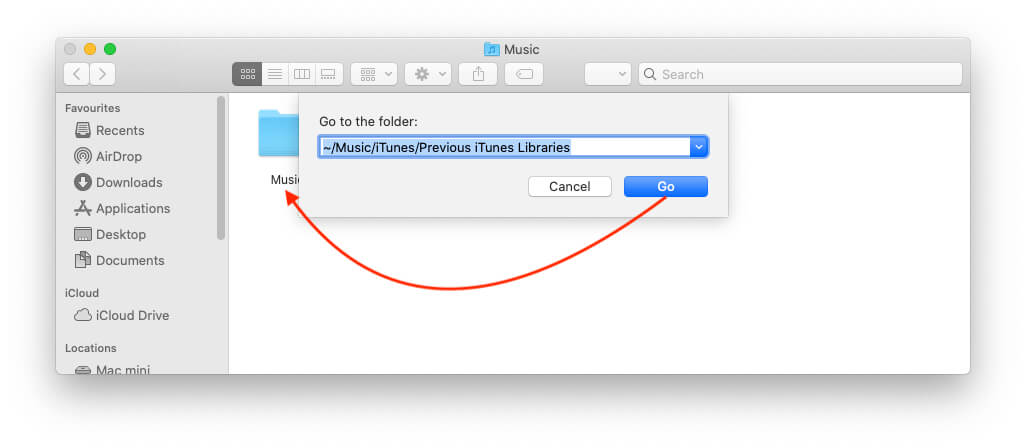 Remove or Delete iTunes Library Backup on Mac
