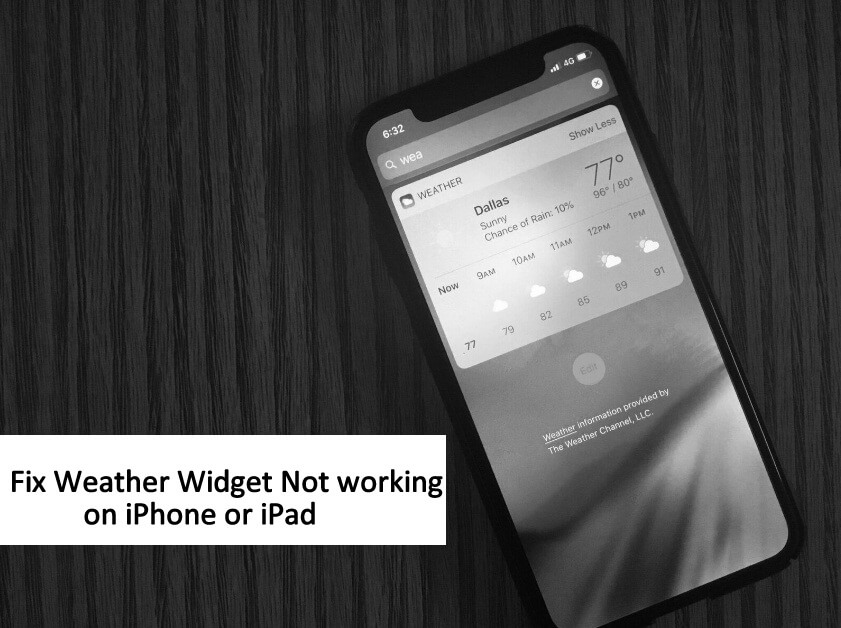 Tips to Fix Weather Widget Not working in iOS 12 on iPhone or iPad