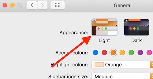 Turn on light mode for use Dynamic Desktop on Mac