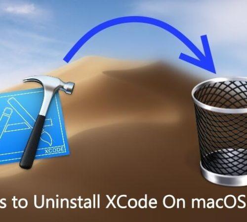 Uninstall Xcode on macOS