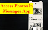 access photos in Messages app in iOS 12 on iPhone