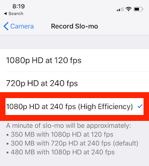 1 Record Slow motion video at 4K in 60 fps on iPhone