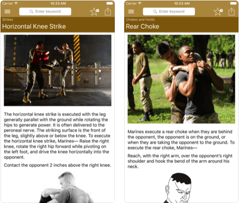 2 Marine Self-Defense iPhone apps