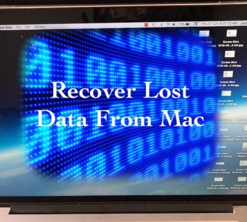 2 Recover lost file after macOS Mojave