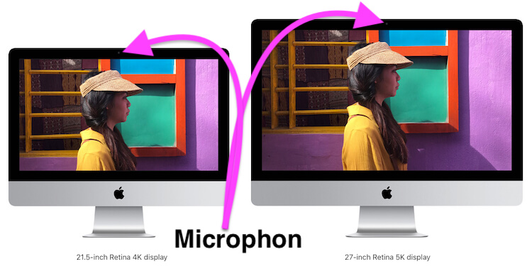 Microphone location on Mac Display
