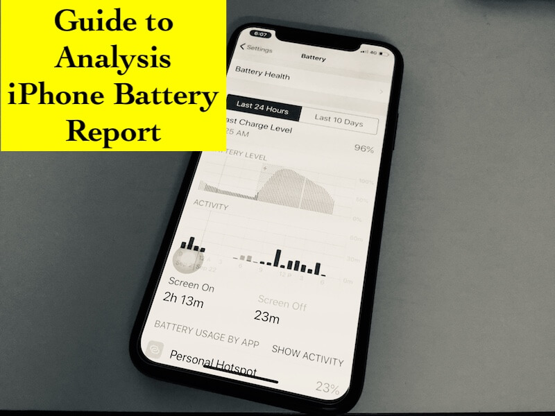 1 Battery Life from Battery Usage Reports