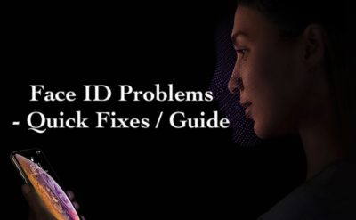 1 Face ID Not Working in iPhone Xs Max and iPhone XS and iPhone XR