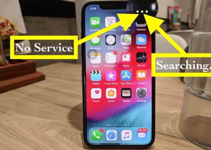1 iPhone XS Max and iPhone XR says no Service or Searching