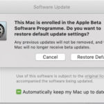 How to update from macOS Mojave beta to Final version (10.14)