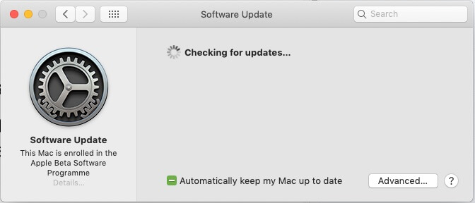3 Waiting for Checking New Update on Mac