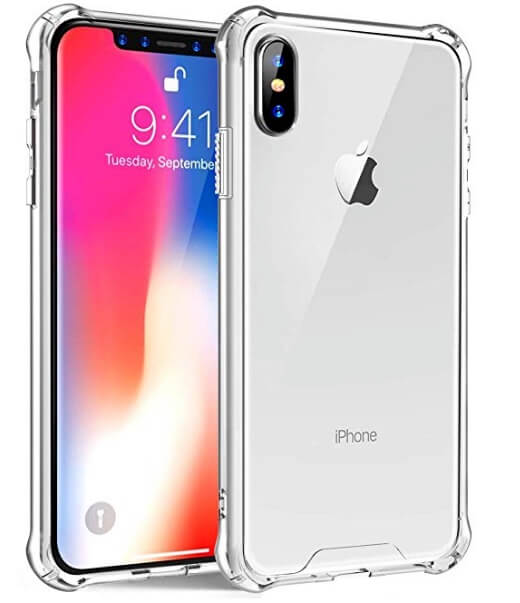 8 ZHK iPhone XS Clear case for Bumper Protection