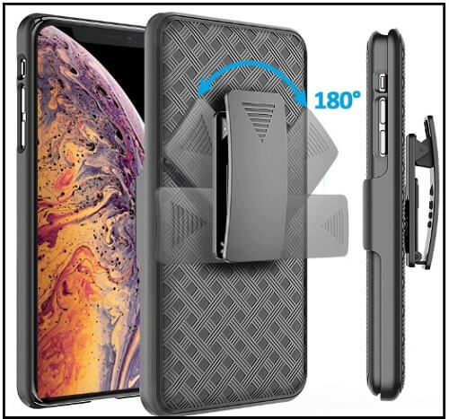 Comsoon Holster Belt-Clip iPhone XS Max Kickstand Cases