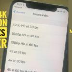 How to Shoot 4k Video at 60fps on iPhone XS Max and iPhone XS