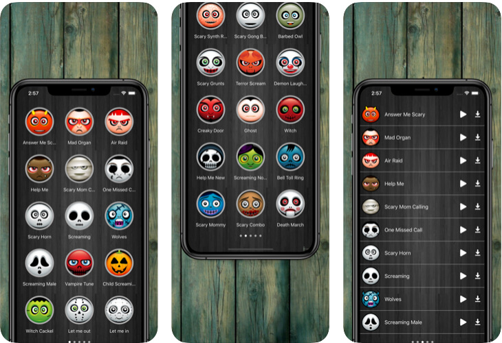 Scary Ringtones app for iPhone