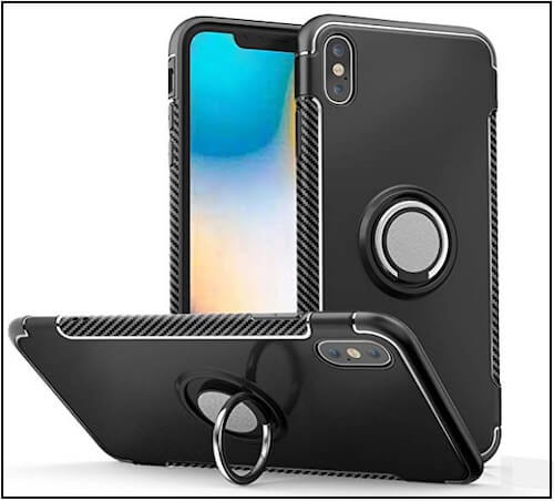 1 ELOVEN iPhone XS max Kickstand Shockproof ring holder Cover