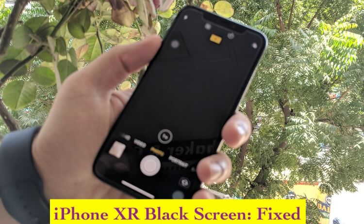 1 iPhone XR Black screen problem fixed
