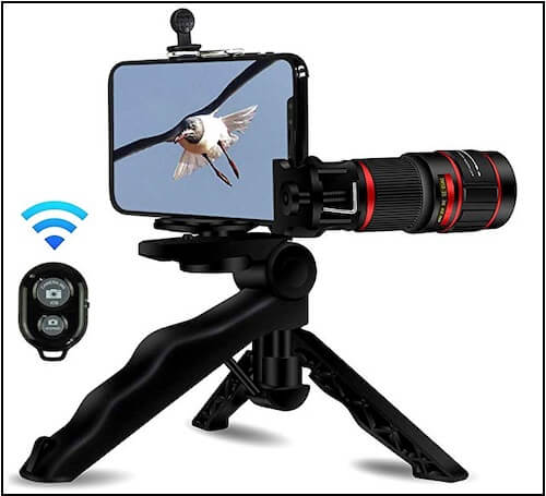 6 AiKEGlobal (20x Zoom) Stronger Phone Tripod