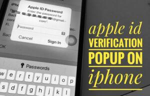 Fix Constant Apple ID Verification Password Pop-ups on iPhone XS Max, XS, Xr