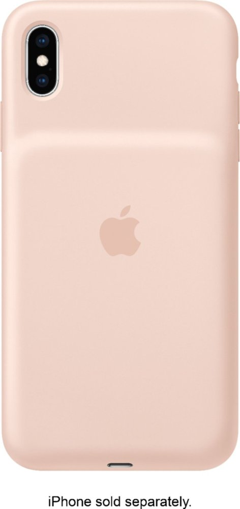 Apple iPhone XS Max Smart Battery Case in Pink Sand color look