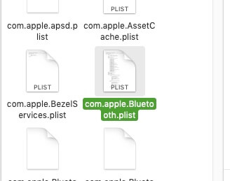 Bluetooth plist file on Mac