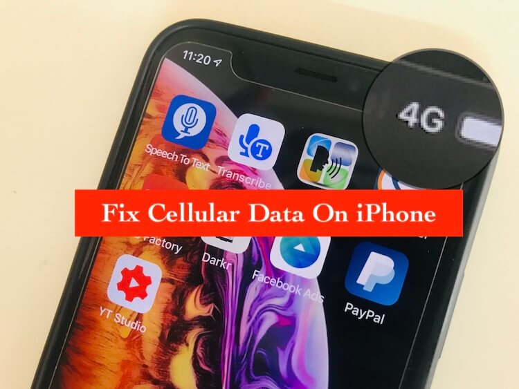 Cellular Data not working on iPhone XS Max
