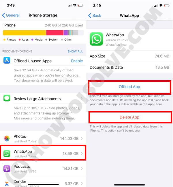 Delete Apps from Settings App