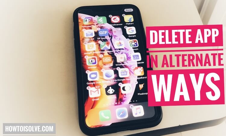 Delete app on iPhone XS max (1)