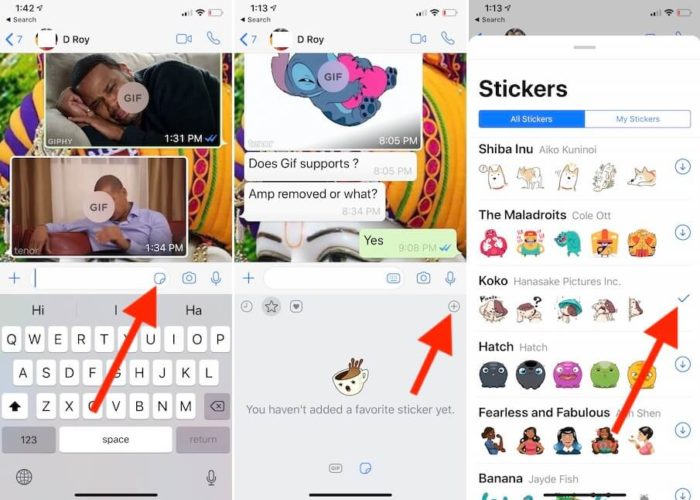 Download and Send Sticker from WhatsApp iphone iPad