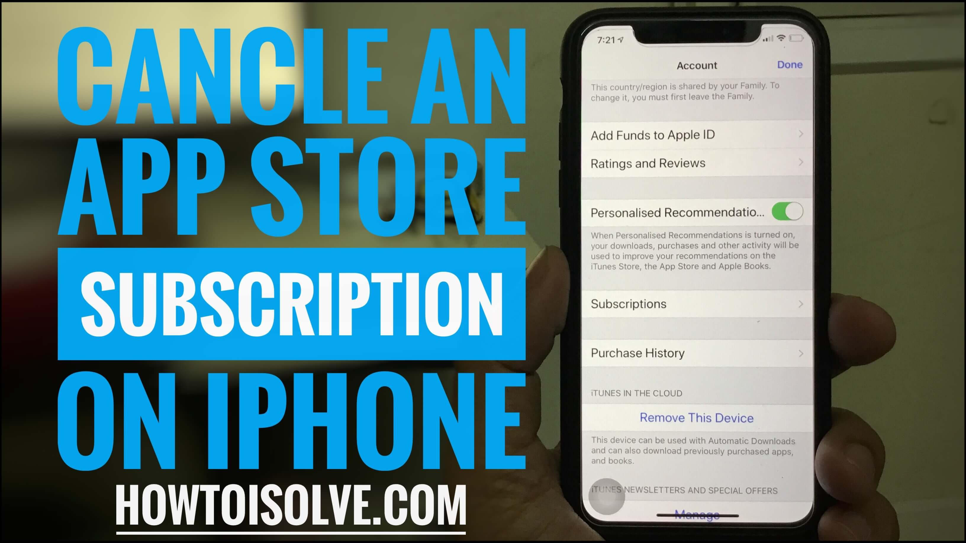 How to Cancel Subscription on iPhone XS Max XR