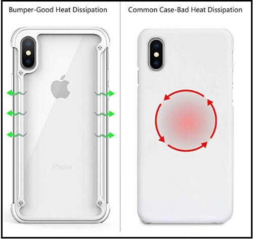 OATSBASF rugged iPhone XS Metal bumper Case