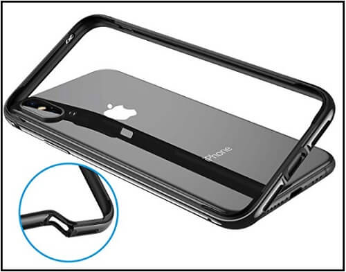 RANVOO's Metal Bumper Case Cover for Apple iPhone XS