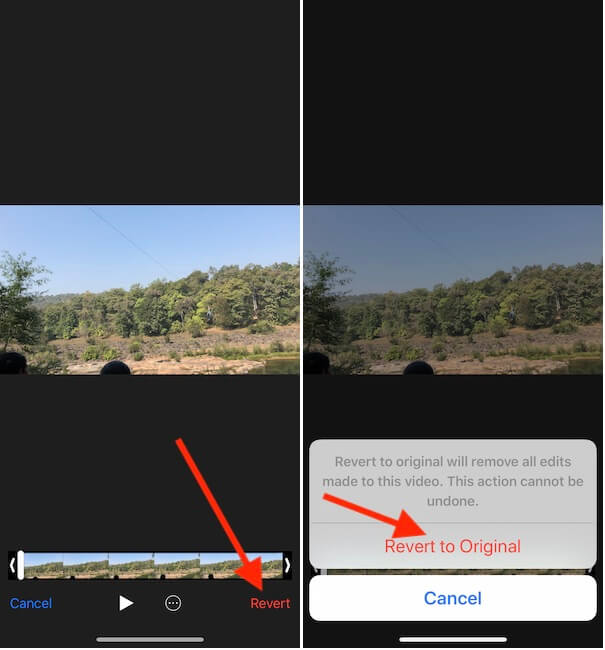 Remove audio from Video iPhone get original