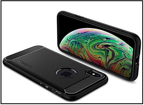 Spigen's iPhone XS Max Carbon fiber case