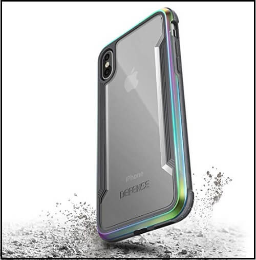 X-Doria's High Quality light Slim & Great Grip iPhone XS Metal Bumper case