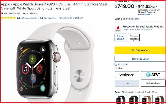 Best Buy Apple watch Series 4 Deals on BF 2018