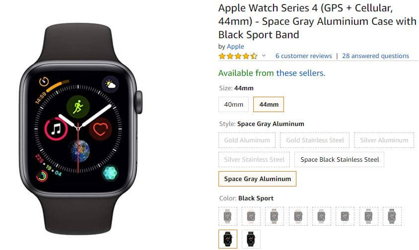 Amazon Apple Watch 4 deals on Black Friday 2018