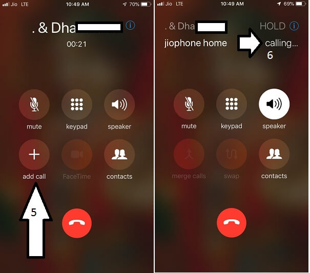 Add Another Call and Merge call on iPhone